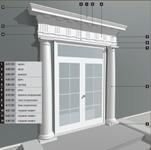 Фасадное Оформление дверного проёма