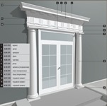 Фасадное Оформление дверного проема