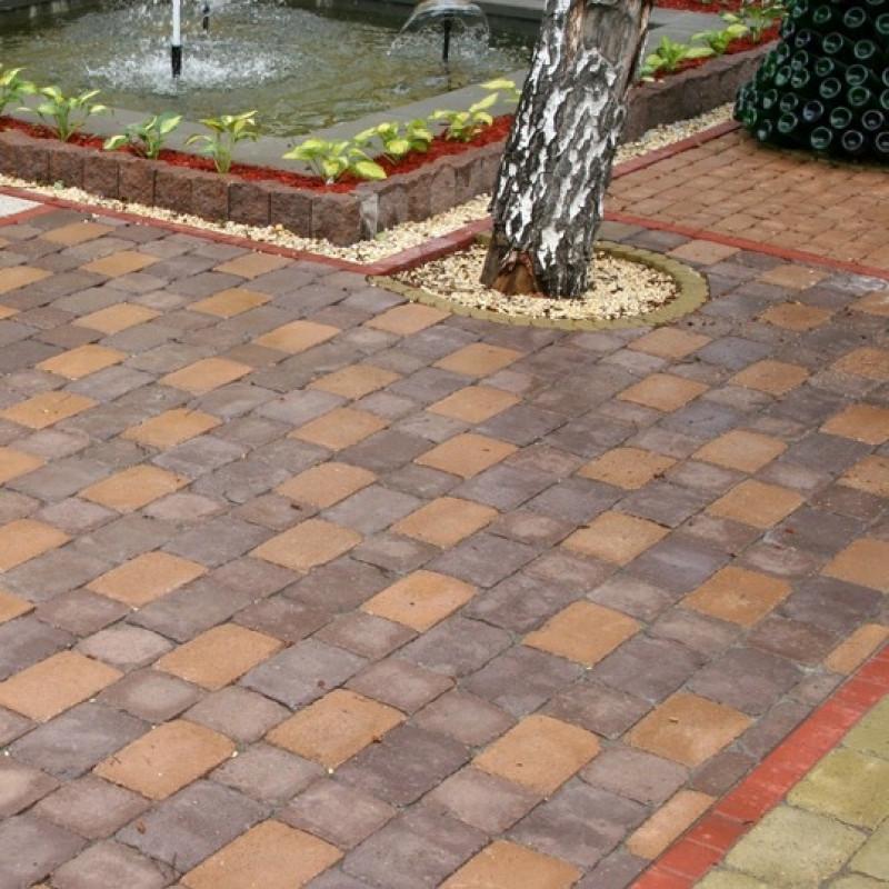 Фото 1 - Квадрат АНТИК h90 цвет на сером цементе (полный прокрас)