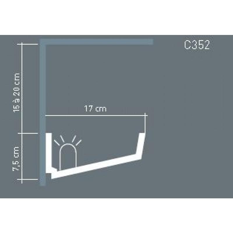 Фото 2 - Карниз скрытого освещения Orac decor Luxxus C352