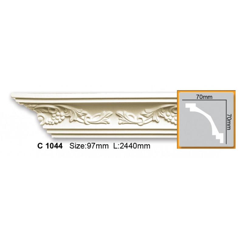 Фото 1 - Карниз гибкий Gaudi decor C 1044 (2,44м) Flexi