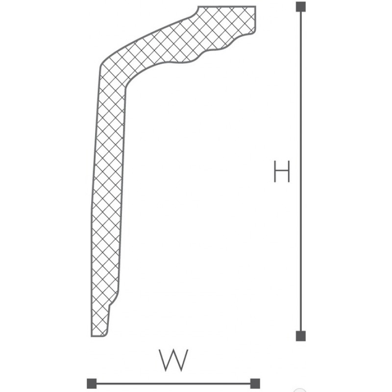 Фото 2 - Потолочный плинтус гладкий NMC Nomastyl GT